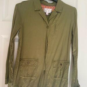 Kids Olive Green Cargo Jacket
